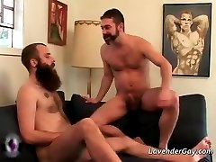Two bearded gay dudes are sucking hard part5