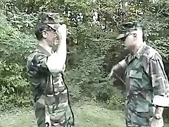 Old Gay Soldiers in the Forest