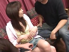 AzHotPorn.com - Asian Cum in Hair Secretary Bukkake