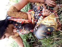 Southindian Beautyful Aunty's Boobs , Pussy in Garden