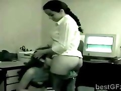 Big booty secretary and gorgeous busty boss got spied in the office