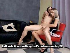 Ashlie and Larissa from sapphic erotica tender lesbians undressing