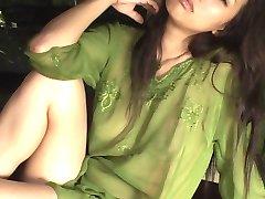 SHIMADA Kazuna in green lingerie
