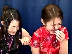 Two amateur Japanese ladies try Bukkake for the first time