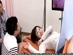 Subtitled Japanese medical clinic internal vagina camera