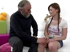 Double Pleasure With Old and Young For Teen BVR
