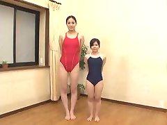 A long tall women and a short girl