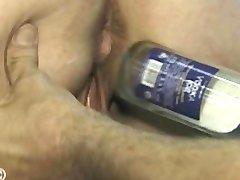 Iron lady gets bottle fucked