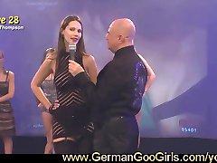 Brunette Viktoria becomes a bukkake babe