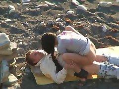 Voyeur Couple On Beach