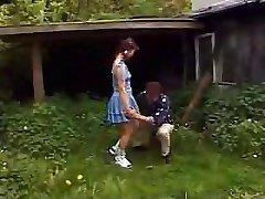 Luscious excited German schoolgirl gets wonderful outdoor experience