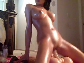 Sexy girl rides her nice toy!