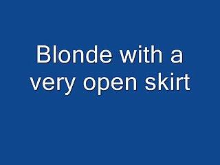 Blonde Round Ass Upskirt