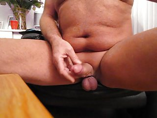 Playing with my cock........