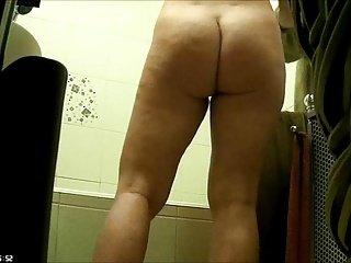 Wife in bathroom 2.