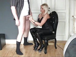 Jerk on Leather Butt