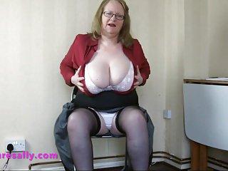 Mature Secretary wears a pantie girdle