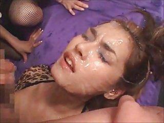 Painting Maria with cum
