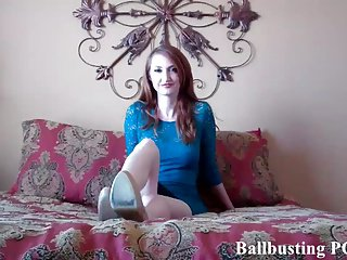 I am going to give you a brutal ballbusting