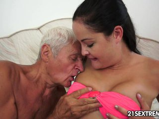Teen cutie\'s kinky picnic with a grandpa
