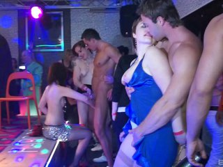 Dance party in a club quickly becomes a steamy orgy 7