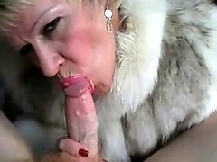 Hot Older Blonde Cougar Suck and Fuck in Fur