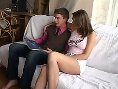 Smashing The Horny Teen Galla' Pink Shaved Pussy