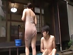 Hot Japanese Mom Seduces Young Man