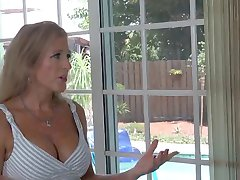 Naught Mature Stepmom Seduced in the Pool